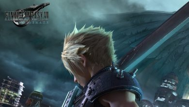 Cloud con la apariencia del remake de Final Fantasy VII