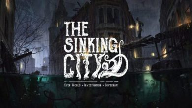 Portada y logo de The Sinking City