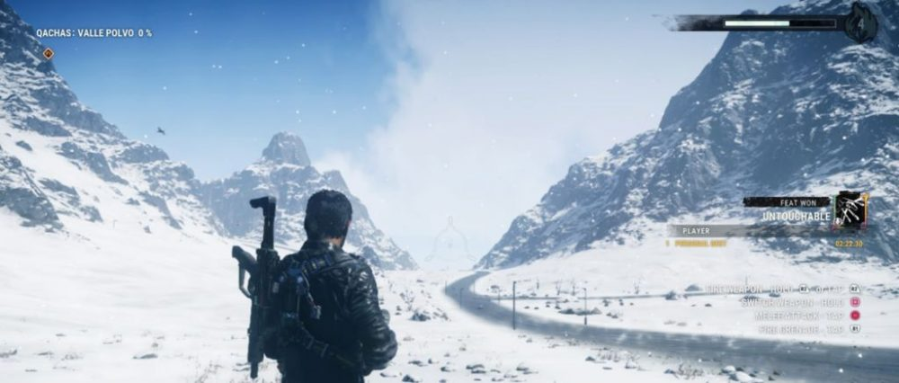 Rico en la nieve en Just Cause 4