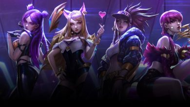 Integrantes del grupo ficticio K/DA de League of Legends