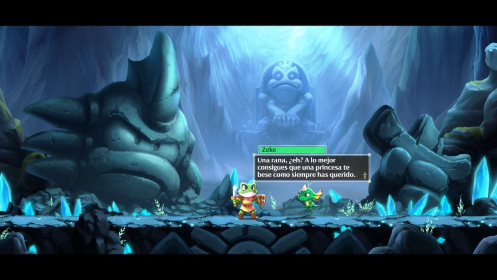 Texto gracioso en Monster Boy