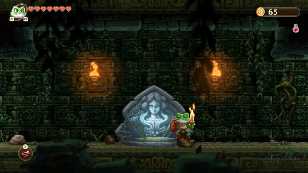 Zonas de guardado en Monster Boy