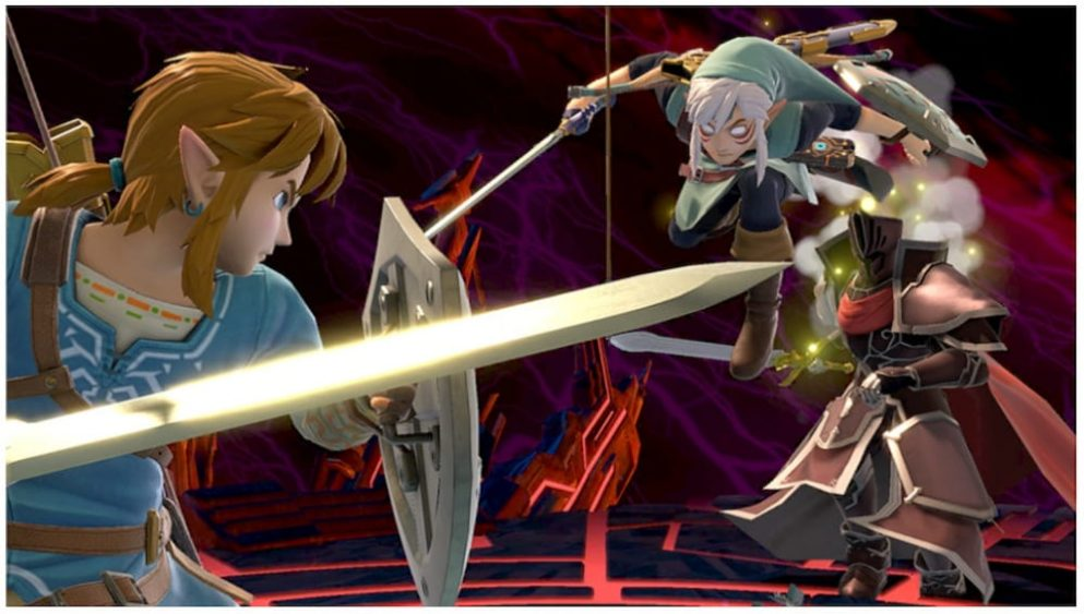 Link luchando contra Link Fiera Deidad en Super Smash Bros Ultimate