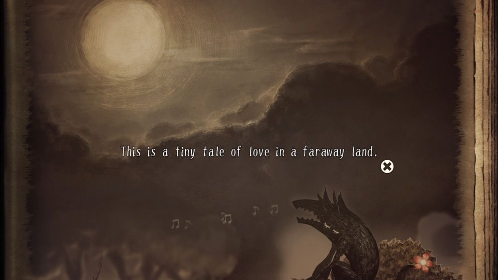 Primera frase de la narración de The Liar Princess and The Blind Prince