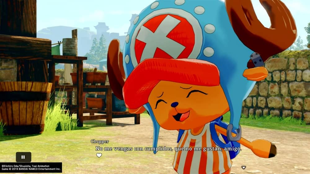 Chopper sonrojado en One Piece World Seeker