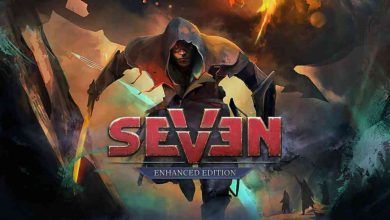 Logo de Seven: Enhanced Edition con su protagonista.
