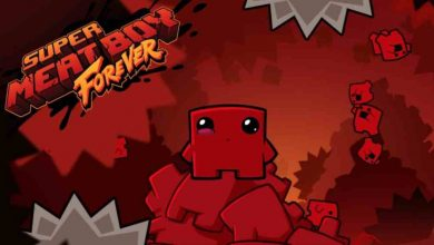 Logo Super Meat Boy Forever.
