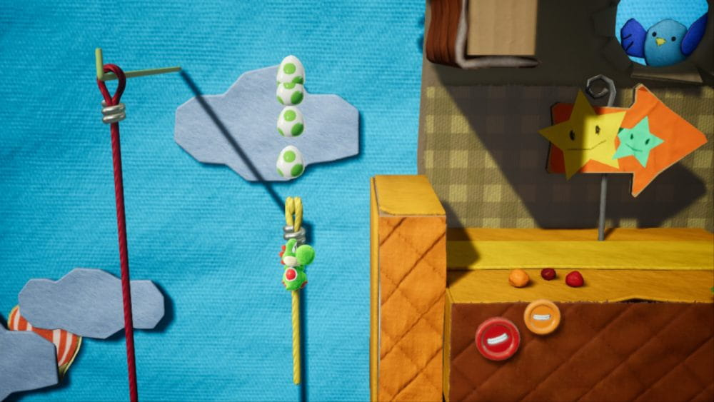 Nivel en Yoshi's Crafted World.