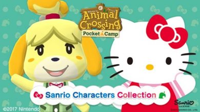 Imagen de Animal Crossing: Pocket Camp y Hello Kitty