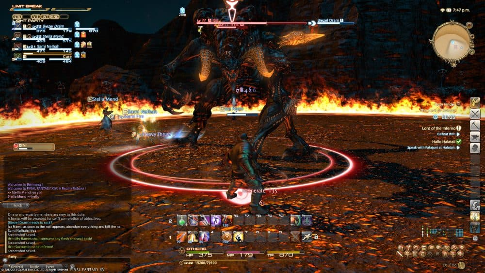 Ifrit en Final Fantasy XIV
